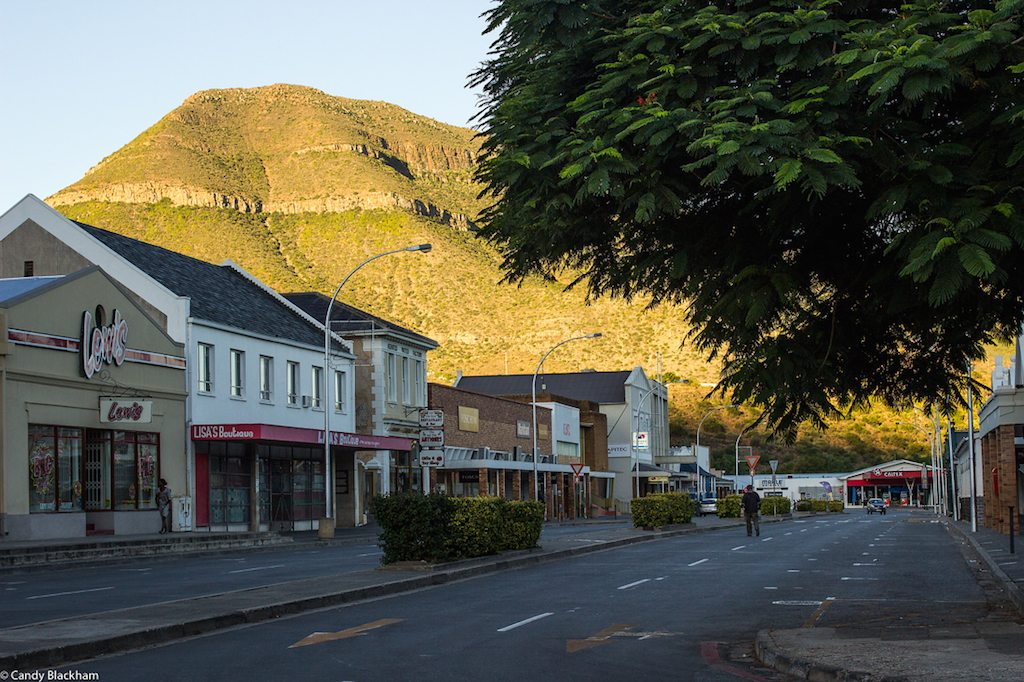Main shopping street, Graaff Reinet, in the evening light-