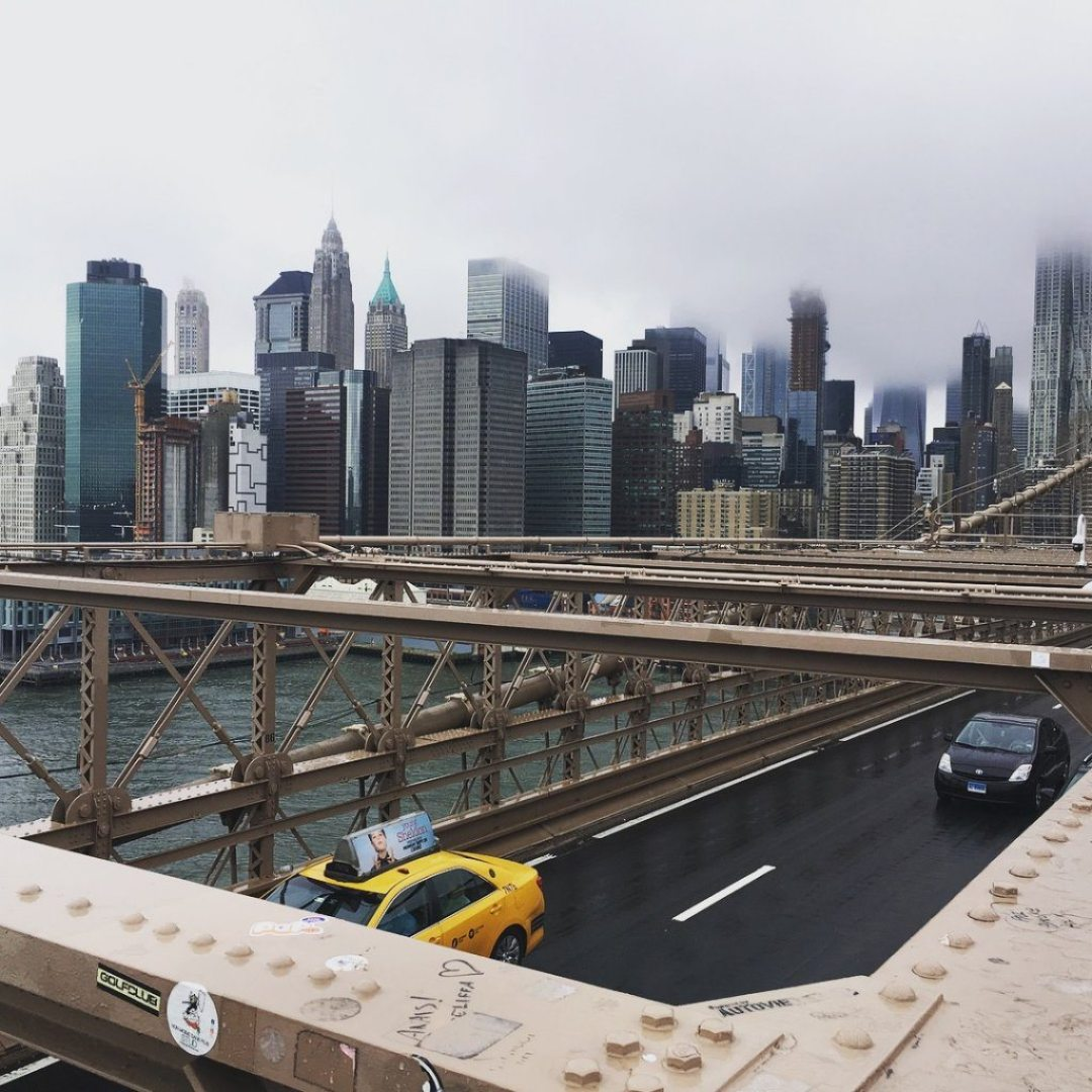The view of New York from the Bridge
