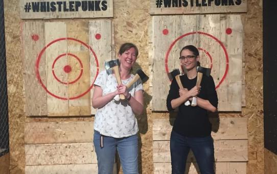 Urban Axe Throwing London | Whistle Punks Ladies What Travel