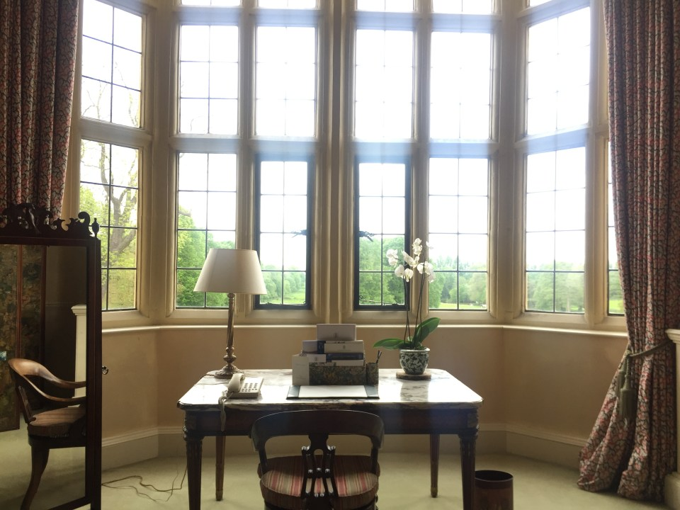 The bay window in the room