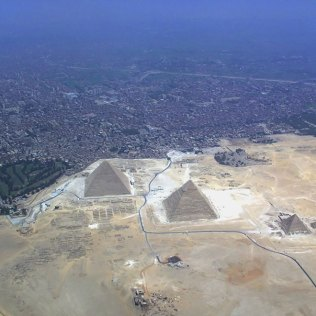 http://commons.wikimedia.org/wiki/File:Giza_pyramid_complex_from_air_(2928).jpg