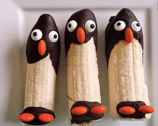 http://www.icreativeideas.com/creative-ideas-diy-frozen-banana-penguin-snack/