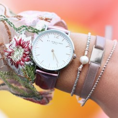 metallic roze horloge my-jewellery
