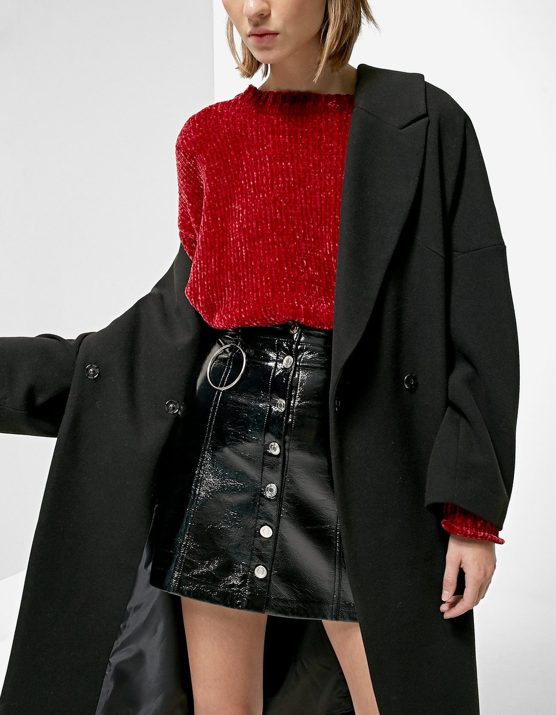 Patent Leather skirt - Stradivarius - € 15,99