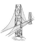 kolorowanka Golden Gate Bridge   ladnekolorowanki.pl