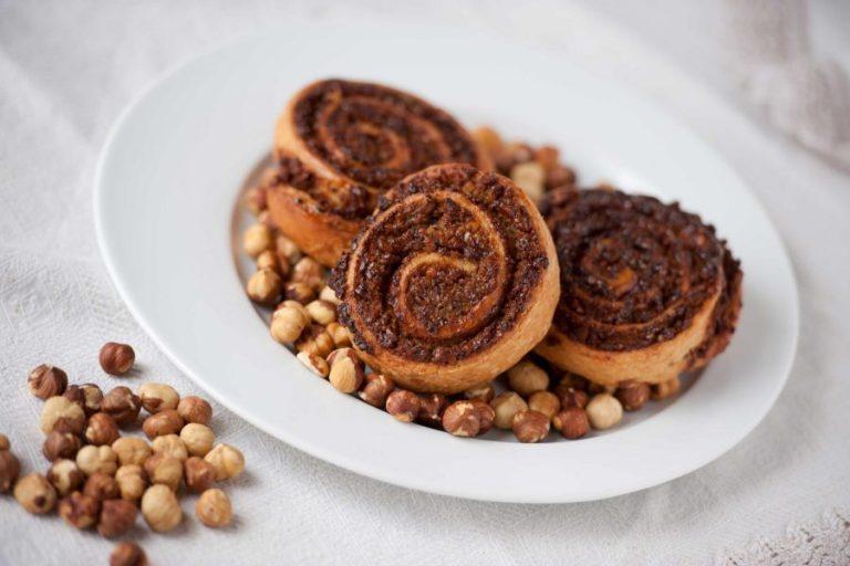 girella di pasta danese e cioccolato