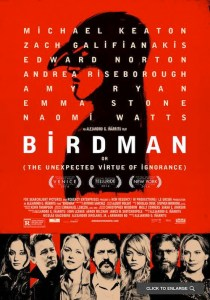 USA, 2014 Regia: Alejandro Gonzalez Inarritu Interpreti: Michael Keaton, Edward Norton Orario: 16,15 – 18,15 – 20,15 Drammatico. Durata 119 min.