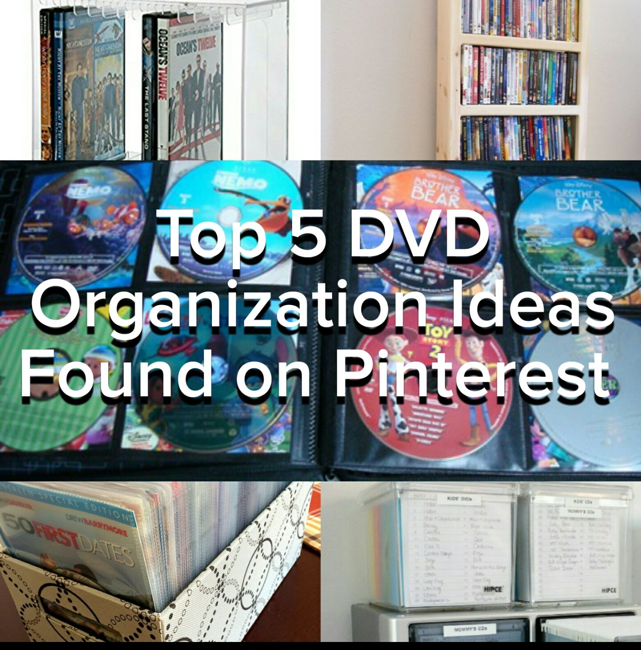 How to organize DVDs