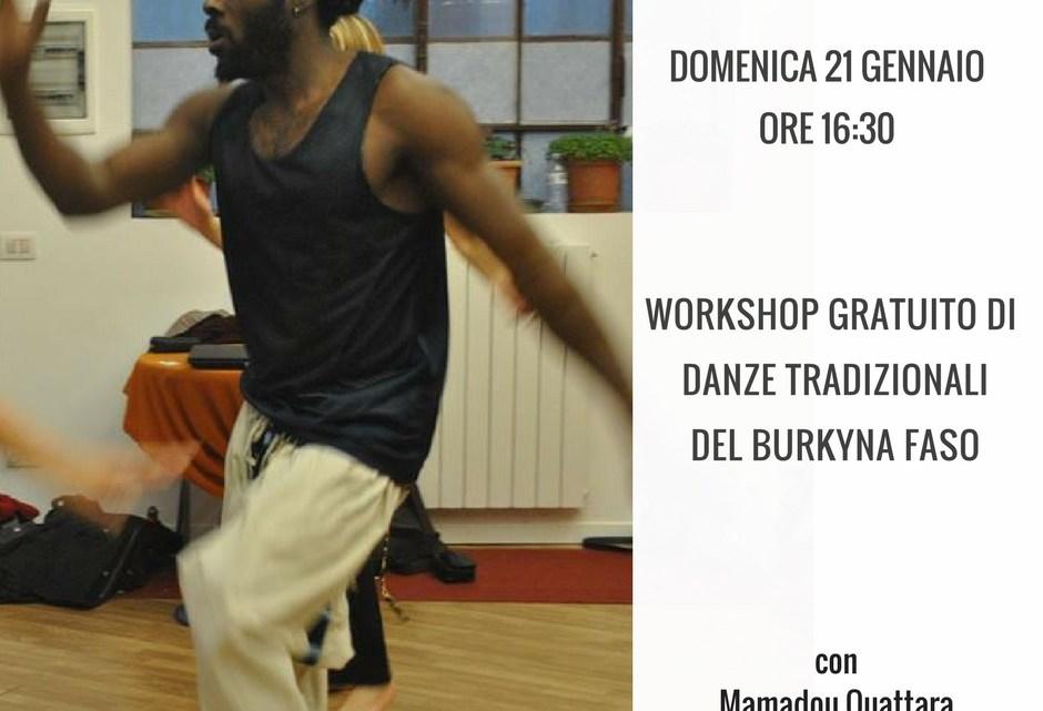 Workshop gratuito di Danze tradizionali del Burkina Faso