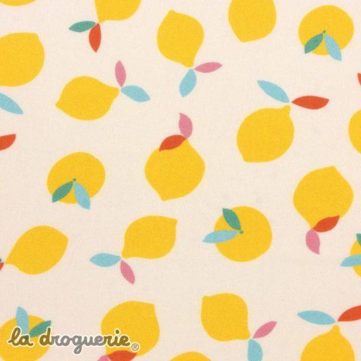 tissu citronnade citron