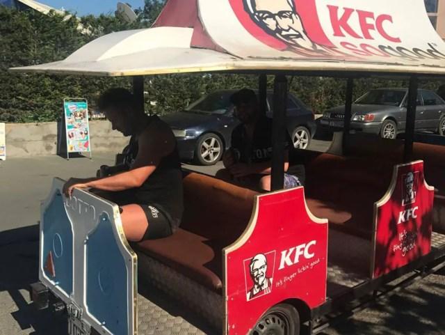 KFC train in Sunny Beach, Bulgaria