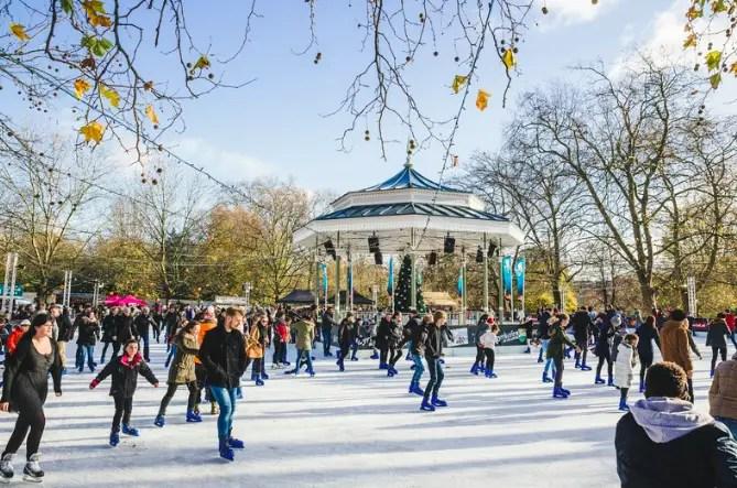 Ice Skating at Winter Wonderland