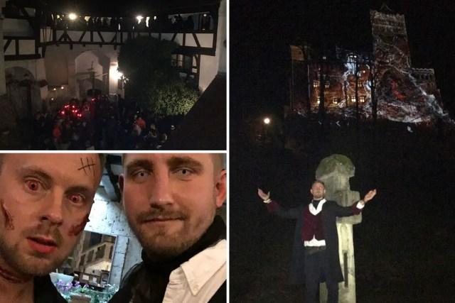 Bran Castle party in Transylvania