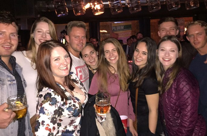 A night out hosted by The Edinburgh Pub Crawl tour guides