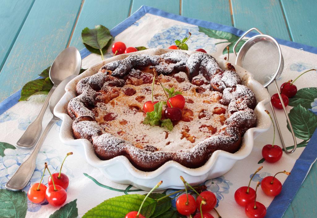 Clafoutis o tarta francesa de cerezas