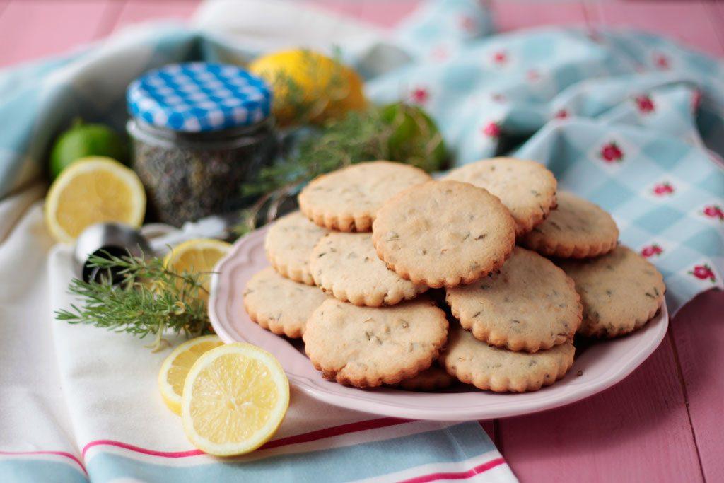 Galletas de lavanda y limón