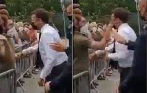 France's President Macron slapped in face during walkabout