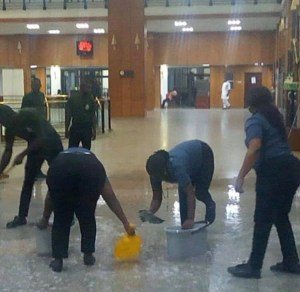 National Assembly flooded