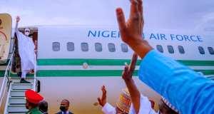 Photos: Buhari Departs Kastina After Sallah Celebrations