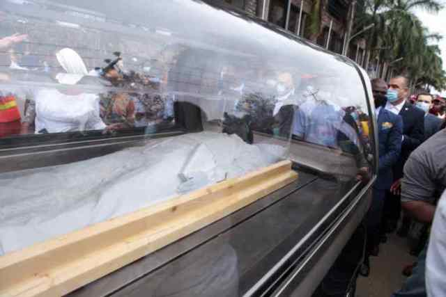 Synagogue founder, TB Joshua's casket arrives Synagogue Church for lying-in-state