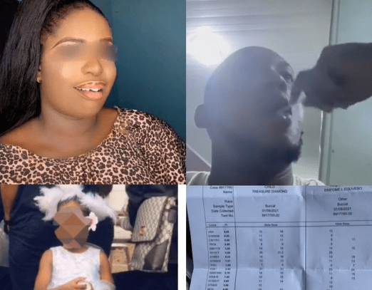 Nigerian man cries out after daughter he has with his girlfriend isn't his