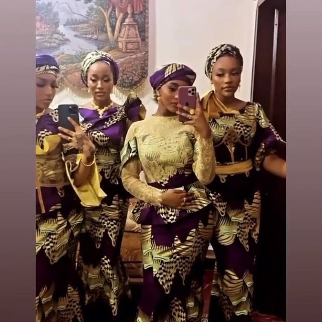 President Buhari's granddaughters attend Yusuf's Buhari's wedding ceremony
