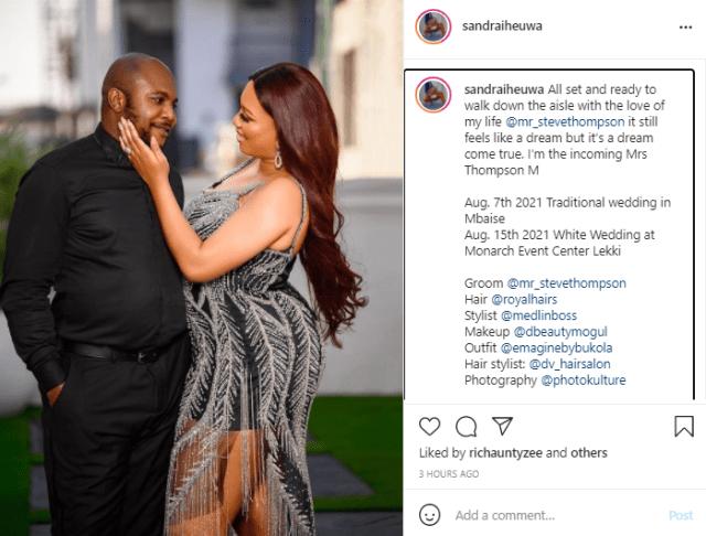 Ubi Franklin's ex, Sandra Iheuwa releases pre-wedding photos