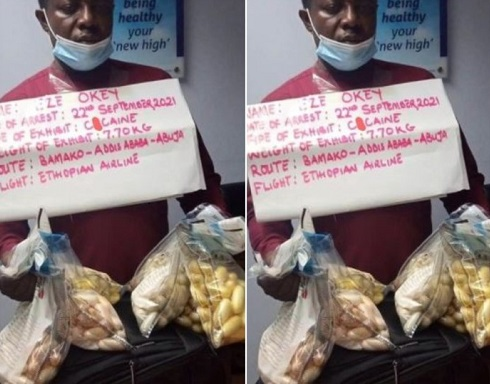 38-year-old tiler arrested with N2.3bn cocaine at Abuja airport