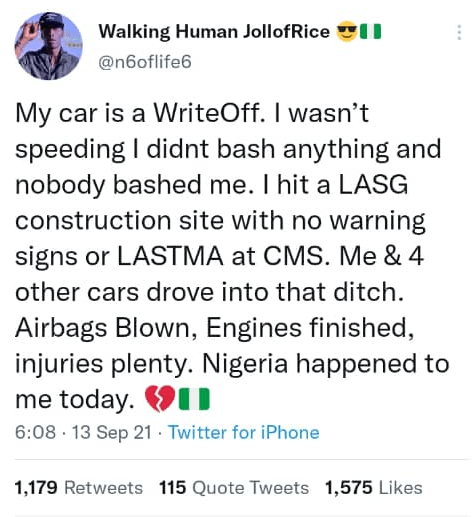 OAP N6 explains how area boys are now collecting money from accident victims