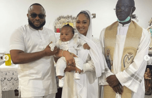 Photos from Olakunle Churchill and Rosy Meurer's son' christening