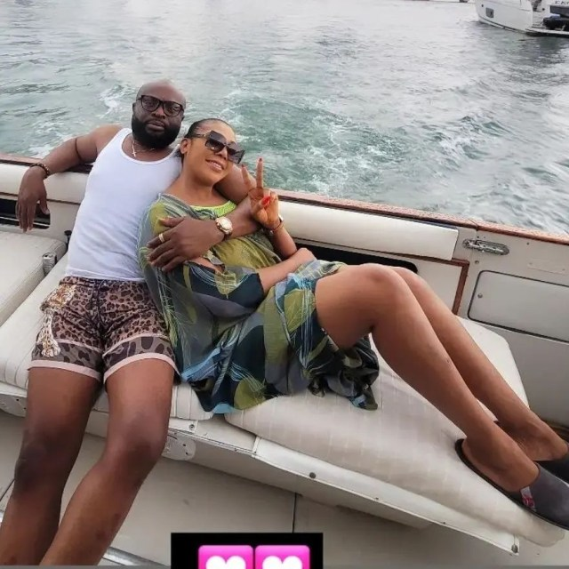 Ehi Ogbebor, shares loved up photos with her new man, Dennis Osifo