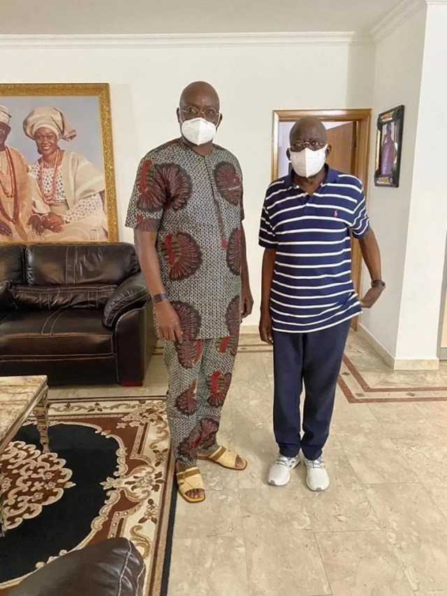 I will rather visit Tinubu now, than to sign a sign condolence register - Fayose says as he visits APC national leader