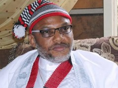 Nnamdi Kanu brought to court amidst tight security
