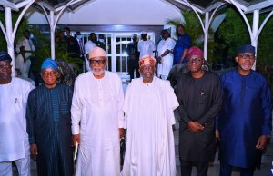 South West Governors visit Tinubu at home