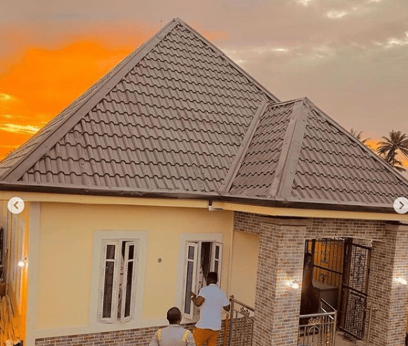 Mr Funny (Sabinus) gifts his parents a house in Port Harcourt