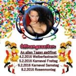 Karnevalsbanner 2016 Dominastudio Köln