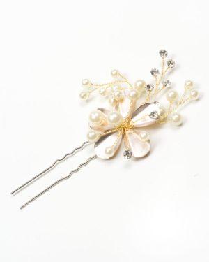 épingle cheveux mariage fleurs métal