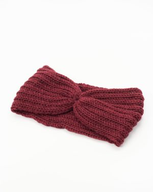 headband hiver rouge bordeaux