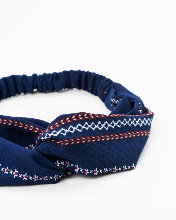 bandeau bleu géométrique