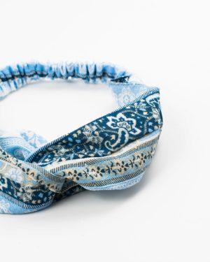 bandeau cheveux femme bleu réversible