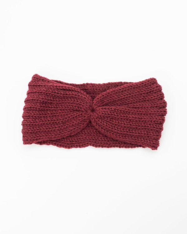 bandeau cheveux femme hiver rouge bordeaux