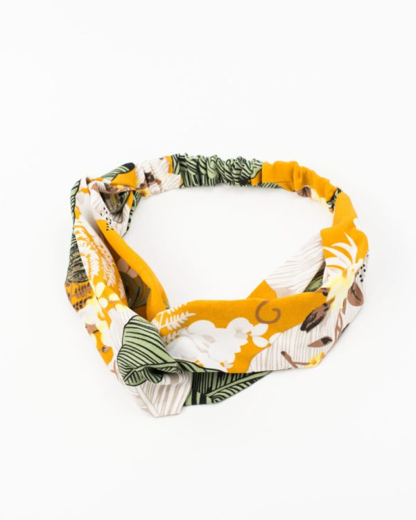 bandeau femme jaune jungle