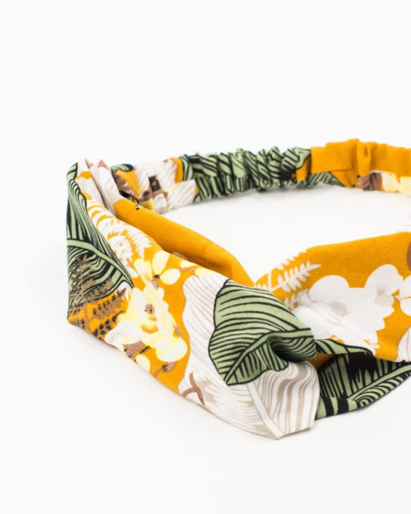 bandeau femme jaune tropical