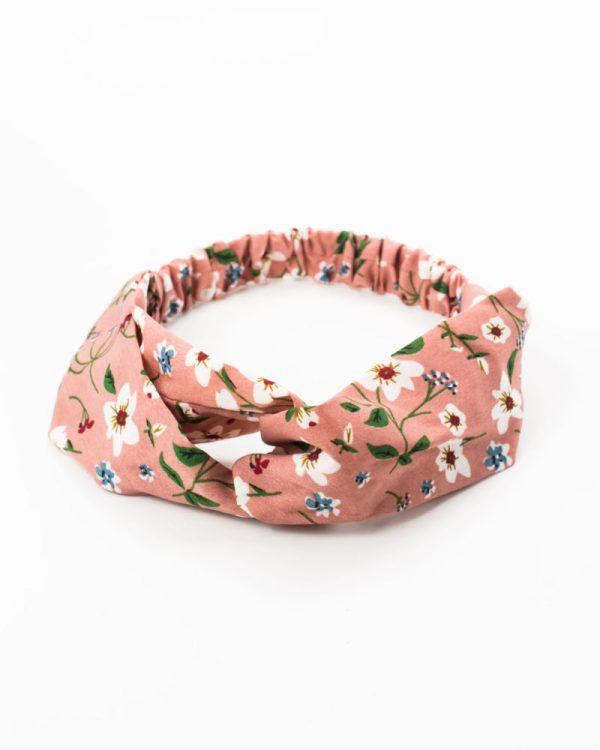 Bandeau pour cheveux à motif floral rose