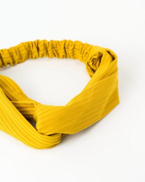 Headband cheveux femme jaune