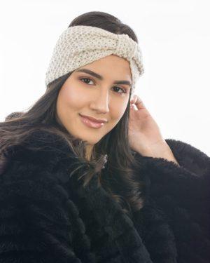 Headband hiver crème