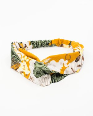 headband jaune feuille