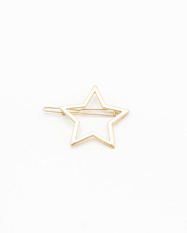 barrette cheveux femme étoile dorée