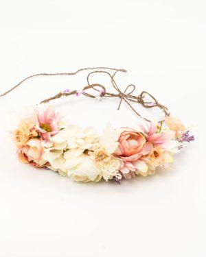 Couronne de fleurs cheveux avec fleurs