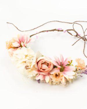 Couronne de fleurs mariage avec fleurs variées